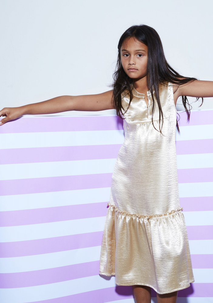 jurk june shine gold van anne kurris