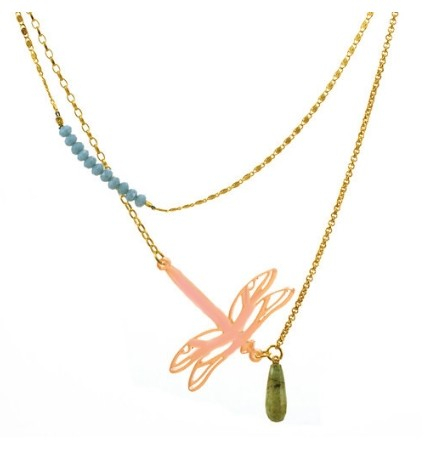 necklace dragonfly by atelier 11 one size